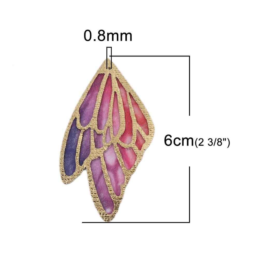 ผ้า PU ใหม่จี้ปีกผีเสื้อ Multicolor Charms Trendy DIY เครื่องประดับทำต่างหูของขวัญผลการค้นหา 4 ซม./5 ซม. /6 ซม. 5 PCs