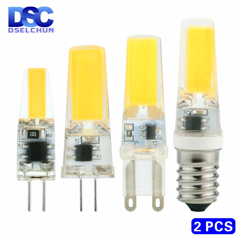 2pcs/lot LED G4 G9 E14 3W 6W Light Bulb AC/DC 12V 220V LED Lamp COB Spotlight Chandelier Replace Halogen Lamps Cold/Warm white