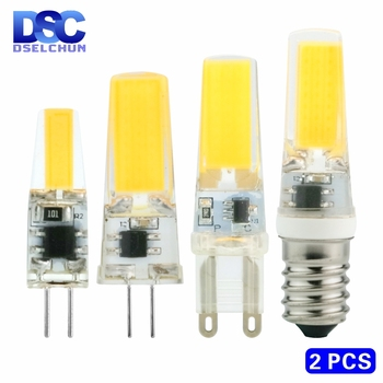 2pcs/lot LED G4 G9 E14 3W 6W Light Bulb AC/DC 12V 220V LED Lamp COB Spotlight Chandelier Replace Halogen Lamps Cold/Warm white jrled g4 cob g4 5w 400lm 7200k 9 cob cool white light spotlight silver black 12 14v