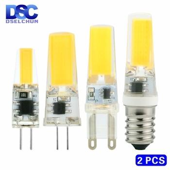 цена на 2pcs/lot LED G4 G9 E14 3W 6W Light Bulb AC/DC 12V 220V LED Lamp COB Spotlight Chandelier Replace Halogen Lamps Cold/Warm white