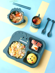 Миска для еды из пшеничной соломы, детская миска для перекуса