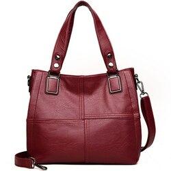 Bolsas de couro de luxo bolsas femininas bolsas designer senhoras ombro sacos de mão para as mulheres 2019 grande ocasional bolsa sac femi