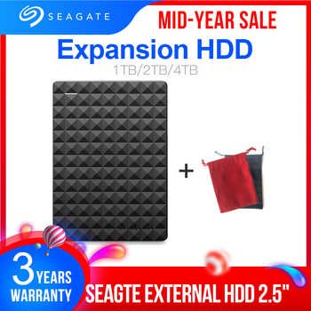 "Seagate Expansion USB 3.0 HDD 1TB 2TB 4TB Portable HDD 2.5"" External Hard Drive Disk for Desktop Laptop MAC PS4 - DISCOUNT ITEM  18 OFF Computer & Office"