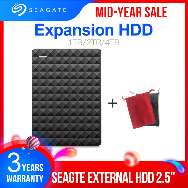 """Seagate Expansion USB 3.0 HDD 1TB 2TB 4TB Portable HDD  2.5"""" External Hard Drive Disk for Desktop Laptop MAC PS4"""