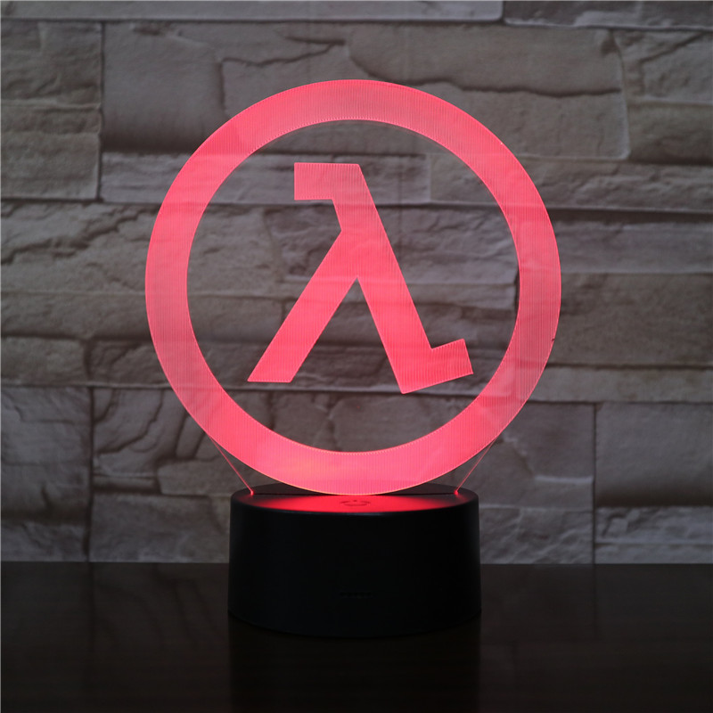 Flashing Lambda Lambd 3D Acrylic LED Night Light Touch Sensitive LED Cetacean USB Lamp Drop Shipping Color Changing 2432