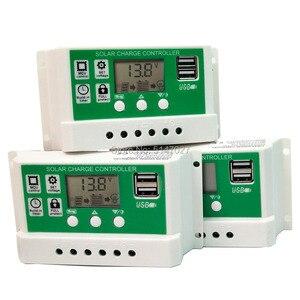30/20/10A LCD display solar charger Lead acid AGM GEL Iron li-ion lithium battery PWM 12v24v auto solar charge controller USB 5V