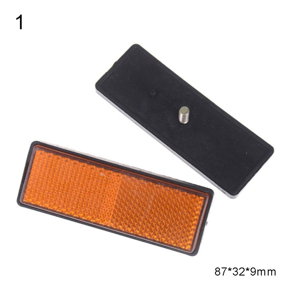2Pcs Rectangle Round Car Motorcycle Bike Caravan Lorry Screw On Safety Reflector Car Reflector