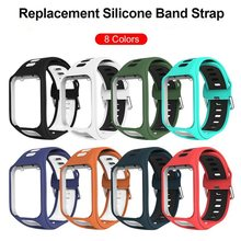 Vervanging Silicone Wrist Band Strap Voor TomTom 2 3 Spark Serie Runner 2 3 Serie Golfer 2 Adventunrer Serie Horloge band(China)
