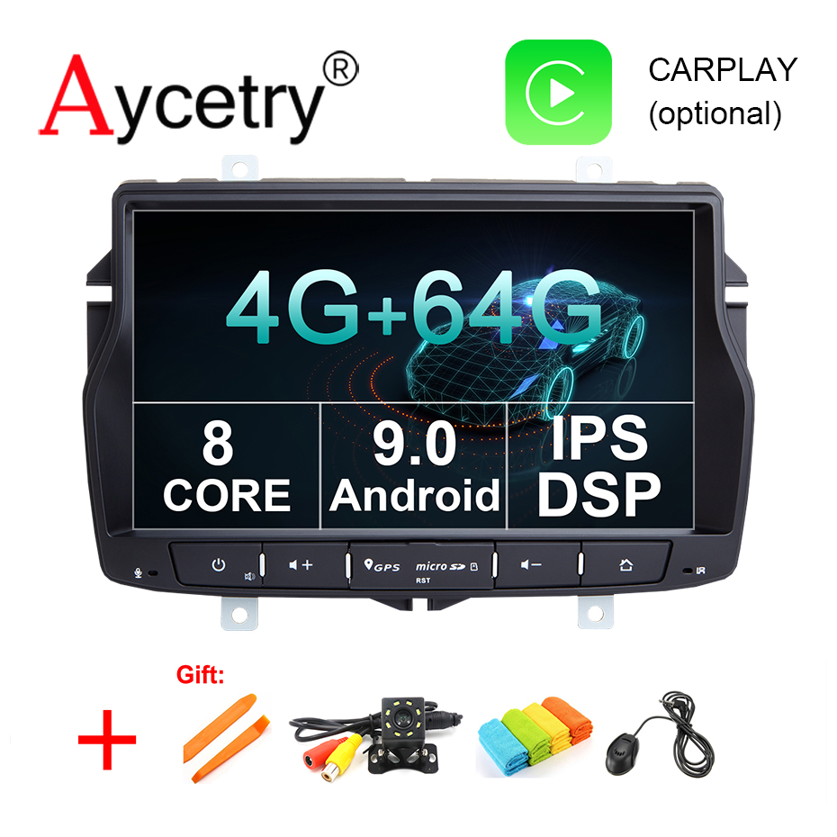 8 CORE 4G 64G Android 9.0 Car Multimedia player dvd GPS Navigation For Lada/vesta car Radio stereo WIFI OBD2 DVR DSP aux usb IPS-in Car Multimedia Player from Automobiles & Motorcycles    1