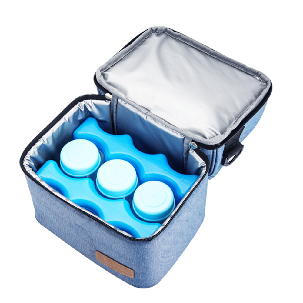 Heat And Cold Preservation Bag Infants Milk Insulation Pack Ice Bottle Lunch Bags Double Breast Mummy Bag Thermos For Babies image