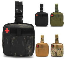 Camping Tactical Survival First Aid Bag First Aid Kit Medicine Organizer Home Car Waterproof Leg Emergency Kit Forest Survival
