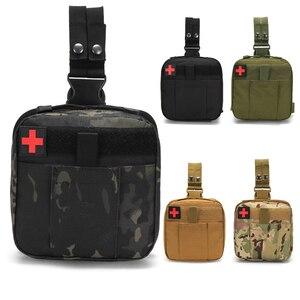 Image 1 - Camping Taktische Überleben Erste Hilfe Tasche First Aid Kit Medizin Organizer Hause Auto Wasserdichte Bein Notfall Kit Wald Überleben
