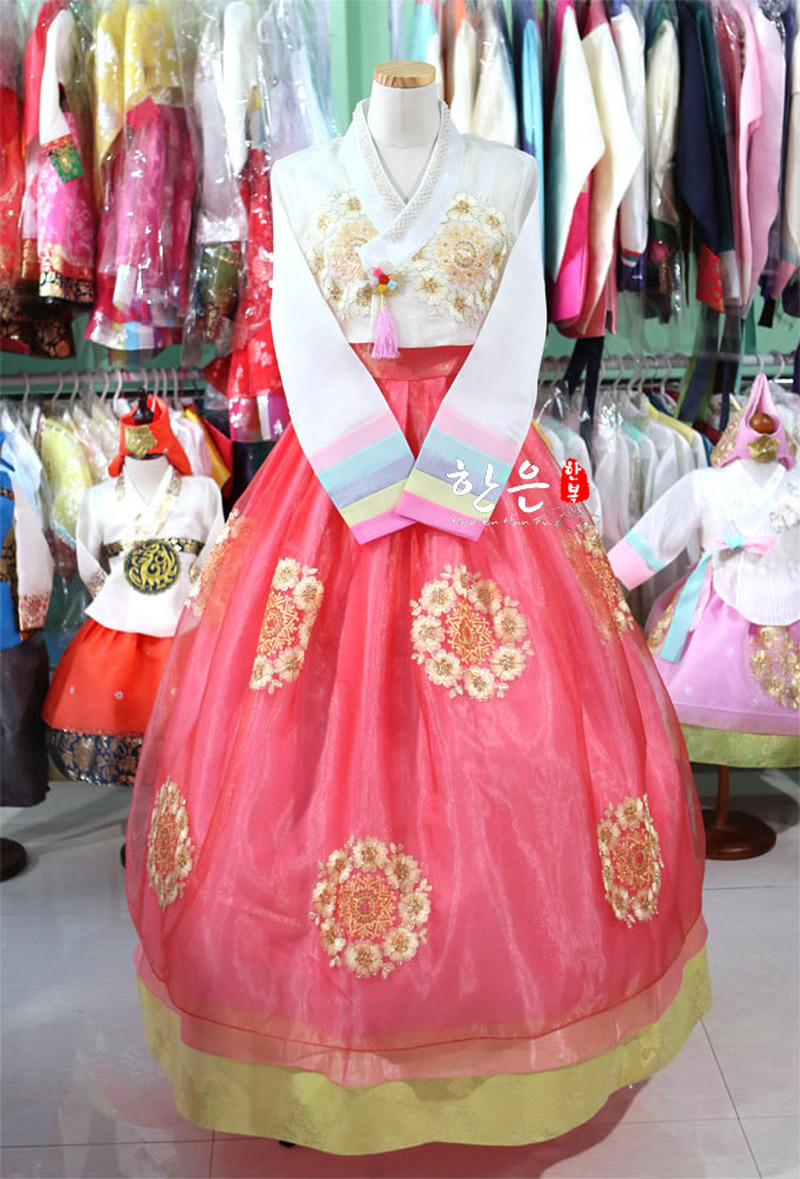 Korea Imported Fabric / New Improved Hanbok / Stage Hanbok / Exquisite Bride Hanbok  Korean Fashion Clothing