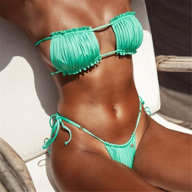 Bandeau Pleated Micro Bikini 2