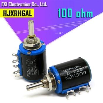2 uds WXD3-12 1W 100 ohm WXD3-12-1W 5 anillos potenciómetro de precisión de bobinado de alambre de precisión