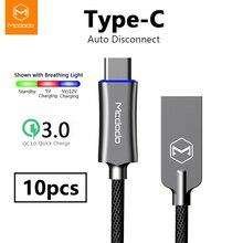 10 ピース/ロット MCDODO Usb タイプ C qc 3.0 急速充電 USB C ケーブルデータコード電話の充電器の S9 huawei 社自動切断ケーブル
