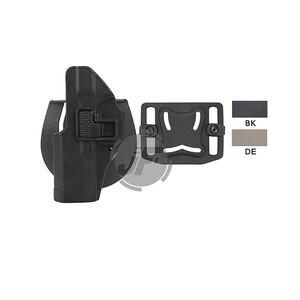 Тактический CQC Serpa сокрытие кобура для пистолета быстрая левая рука поясной ремень петля чехол для Glock 17 19 22 23 31 32