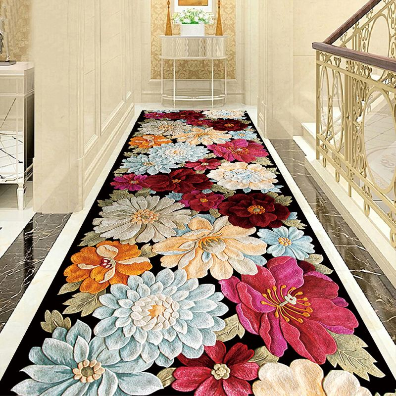 3D Creative Printing Flower Hallway Carpets Living Room Bedroom Rugs Kitchen Bathroom Anti-skid Mats Door Mat Wedding Carpet