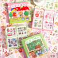 100 шт./упак. Kawaii наклейки из бумаги васи набор милых девушек Кот самолет планета клейкая этикетка декоративная наклейка этикетка для планиро...