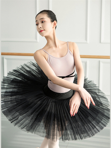 Image 3 - בנות בלט בגד גוף בלרינה מסיבת שרוולים ריקוד התעמלות סרבל בלט תחפושות Turnpakje בגד גוף טוטו Dancerwear