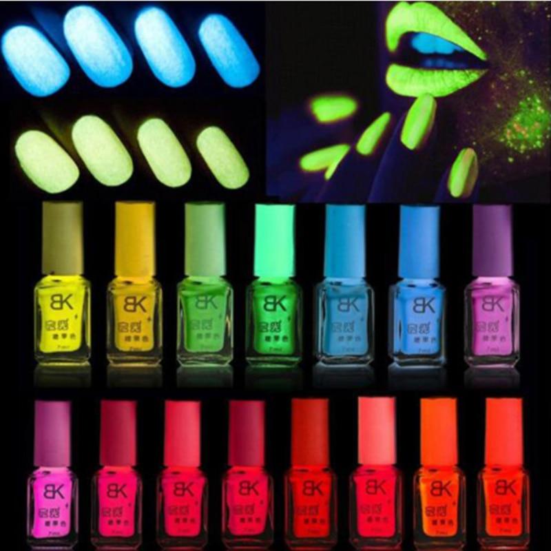 20colors Candy Nail Art Luminous Paint Nail Polish Neon Nail Lacquer Luminous Fluorescent Nail Gel Glow In The Dark