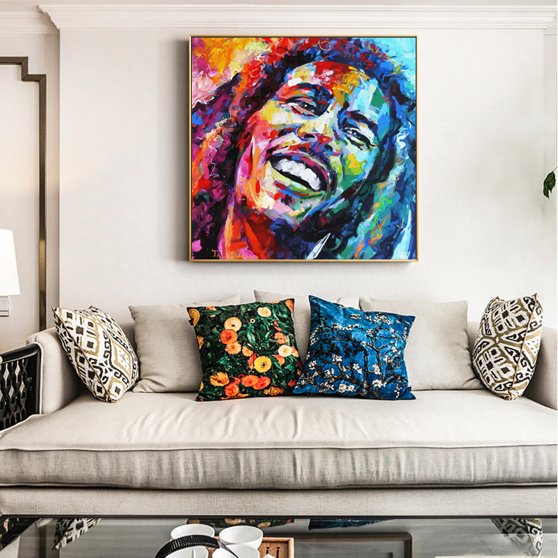 Modern Abstract Portrait Canvas Painting Wall Canvas Art Bob Singer Picture Posters and Prints for Living Room Home Decor