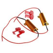 2x LED 50W 6Ohm DRL Fog Light Canbus Load Resistor Canceller Decoder DC 12V цена и фото