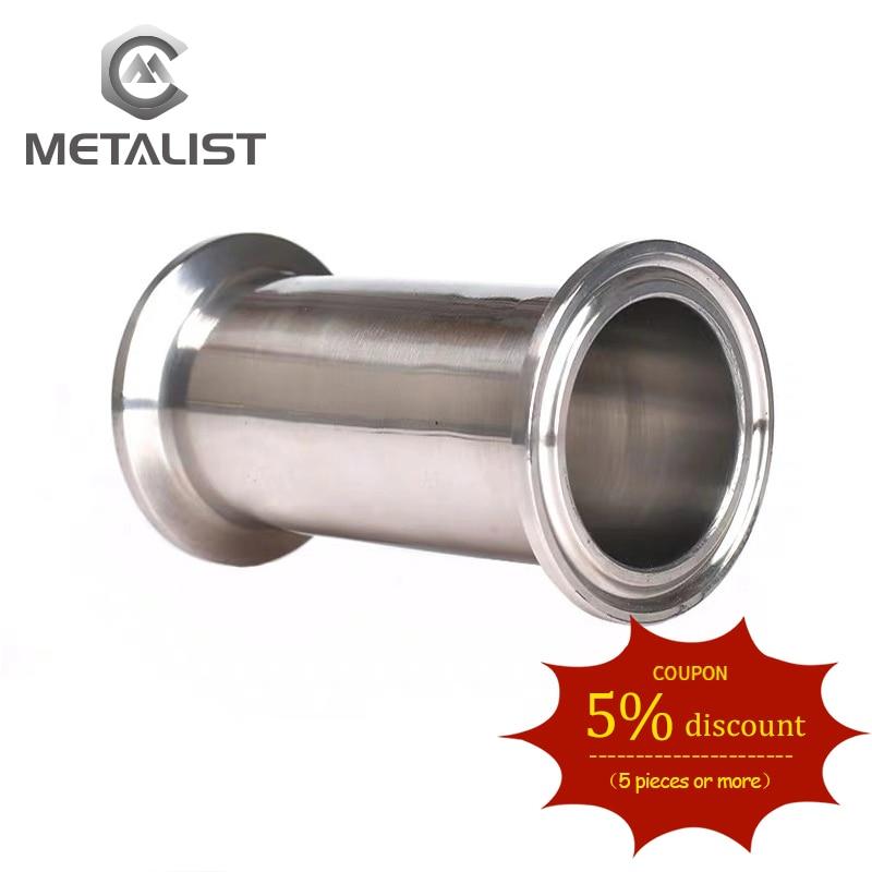 METALIST 25MM/32MM/38MM OD Sanitary Spool Tube W/ 50.5MM Ferrule Flange Fit 1.5