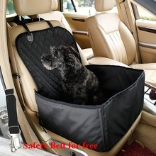 2 in 1 Car Front Pet Car Seat Cover Waterproof Puppy Basket Anti Silp Pet Car Carrier Dog Cat Car Booster Outdoor Travel