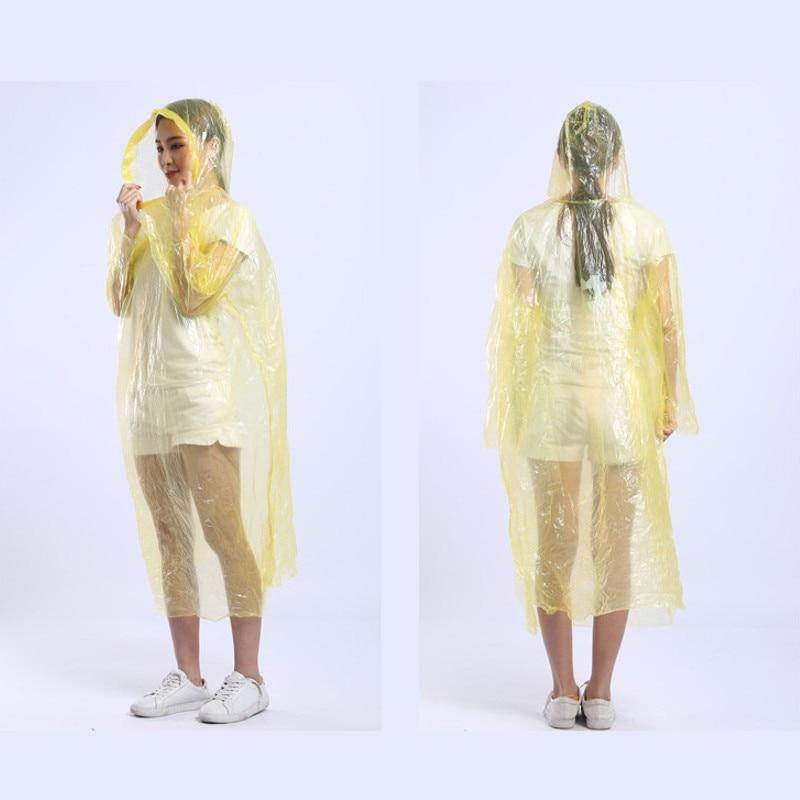 Adult Kids Disposable Waterproof Emergency Raincoat Poncho Hiking Camping Jacket