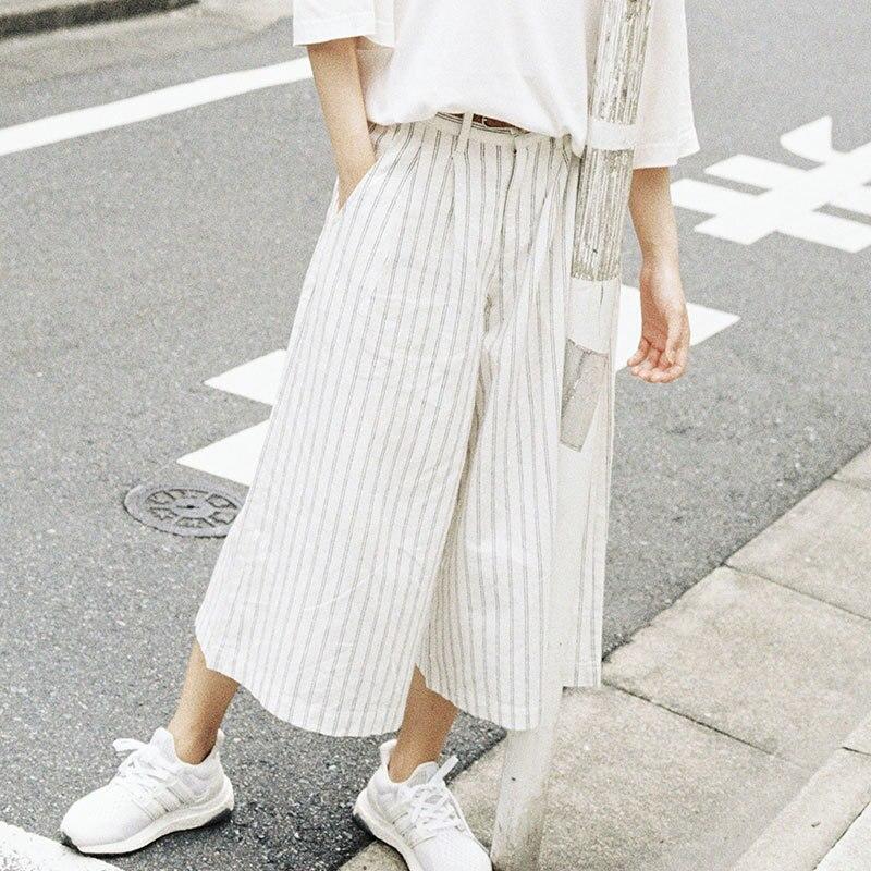 Vêtements d'été pour femmes coton et lin dénudés ample pantalon ample dame Hip Hop Cross-pantalon entrejambe pantalon large pantalon décontracté