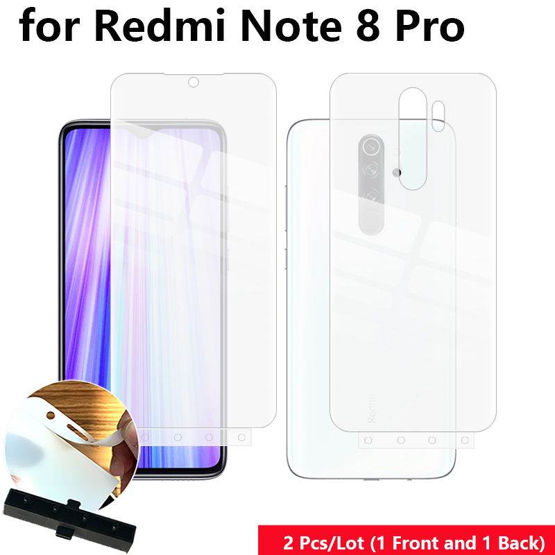 2 Pcs/Lot Front & Back Fixed Scratch Proof Anti Finger Hydrogel Screen Protector For Xiaomi Redmi Note 8 Pro 6.53