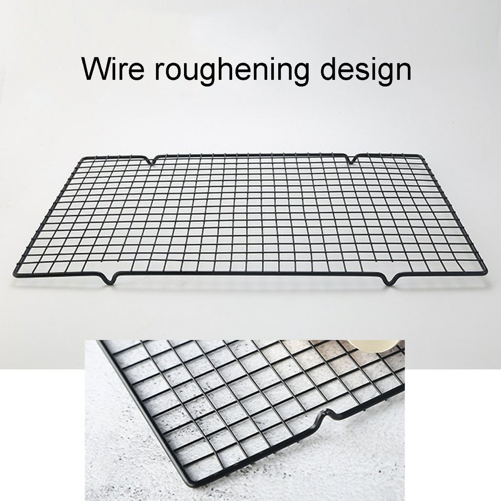 Stainless Steel Wire Grid Cooling Tray Cake Food Rack Oven Kitchen Baking Pizza Bread Barbecue Cookie Biscuit Holder Shelf