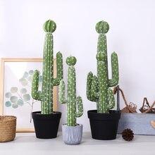 60 см тропические растения большой искусственный кактус ветка
