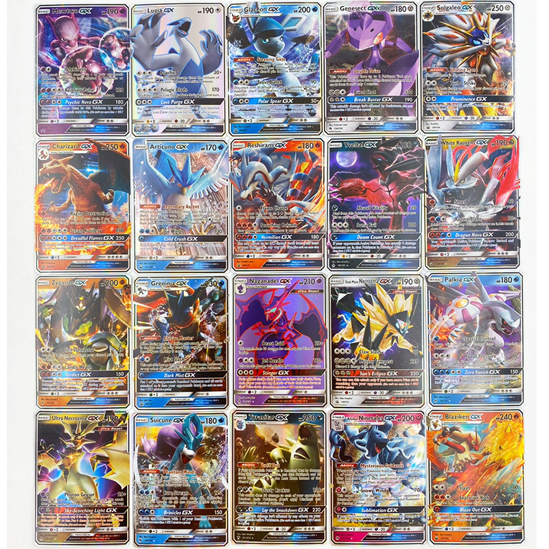 Image 2 - 300 Pcs no repeat Pokemons GX card Shining TAKARA TOMY Cards Game Battle Carte Trading Children Toy-in Game Collection Cards from Toys & Hobbies
