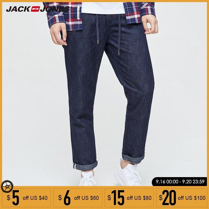 Jack & Jones  2019 NEW Denim Slim Plaid Medium Pants Ankle-length Jeans Men Punk Style Fashion Jeans| 217132553