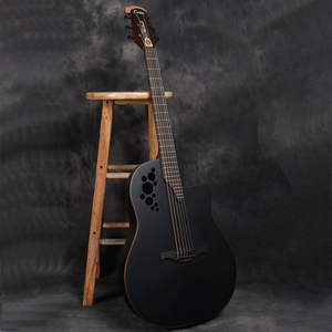 41 inch New Folk Electric Box Guitar Solid Spruce Grape Hole 6 Strings Acoustic Guitar High Quality Carbon Fiber Guitar AGT235(China)