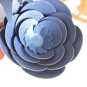 Image 5 - Ensemble de feuilles de fleurs en papier Rose