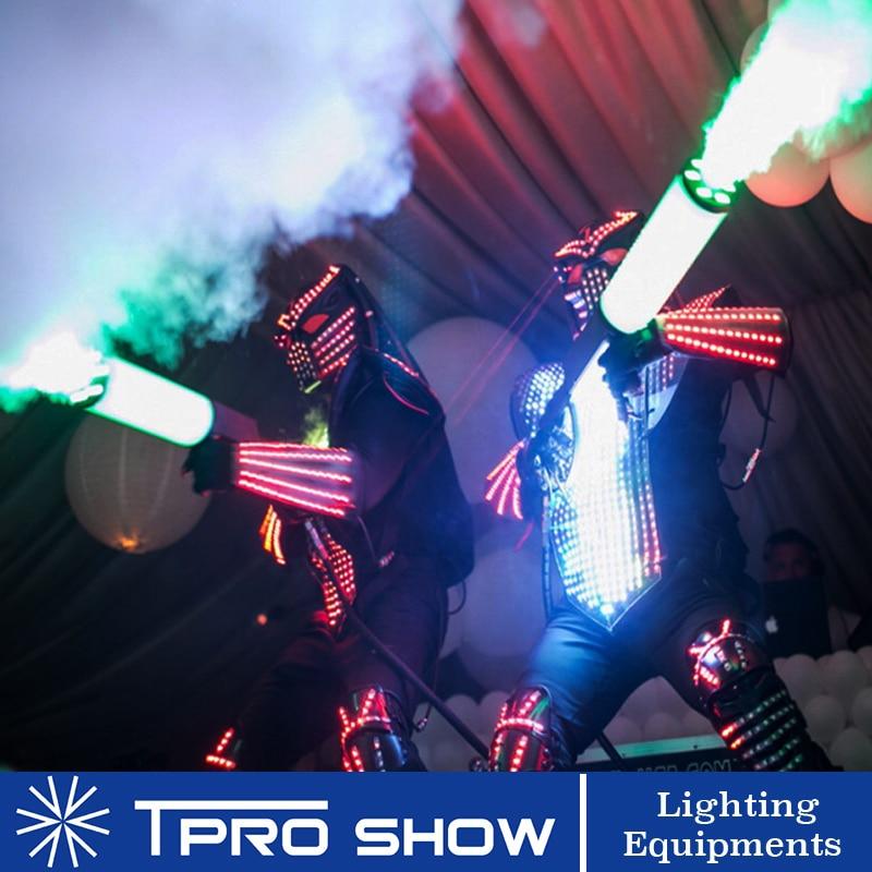 1 RGB светодиодный CO2 пистолет крио Пистолетная машина сценическое освещение эффект 1 цилиндр рюкзак высокого давления газовый шланг для DJ Disco...