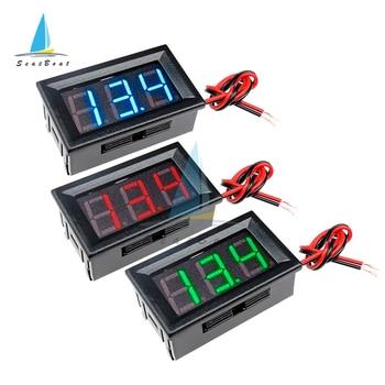 0.56 inch LED Digital Voltmeter Car Motocycle Voltage Meter Volt Detector Tester Monitor Panel Red Green Blue 2/3 Wire