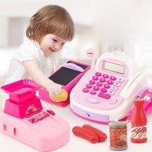 New Childrens Supermarket Sound and Light Cash Register Can Swipe Scan Scanning Simulation Cashier Toy Chrismas Gift