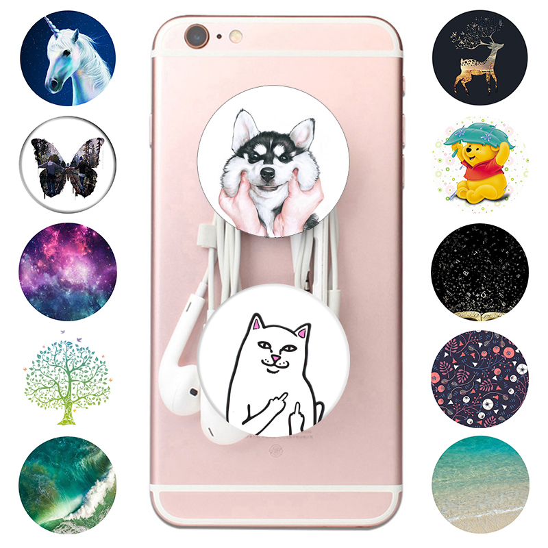 Popping Phone Holder Hot Expanding Stand And Grip Pocket Socket Cute Dog Hand Finger Ring Smartphone Stand телефона