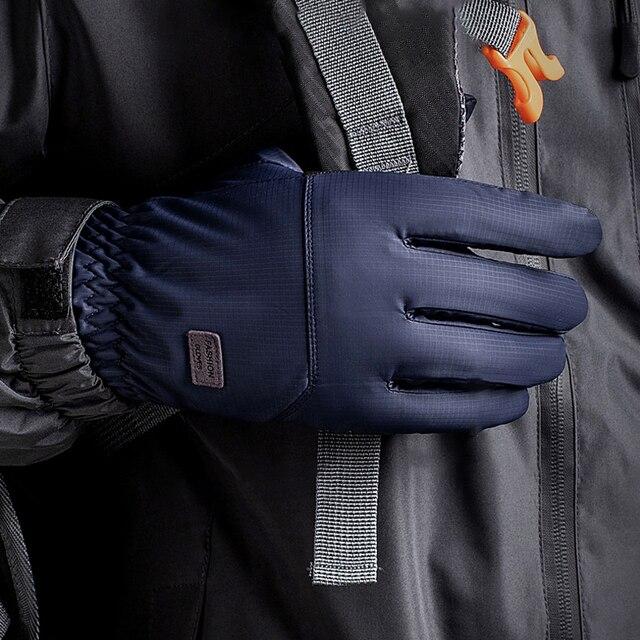 2020 nouveau imperméable à leau garder au chaud gants de Ski hiver Plus velours épaississement hommes gants de neige doigts écran tactile équipement de Ski