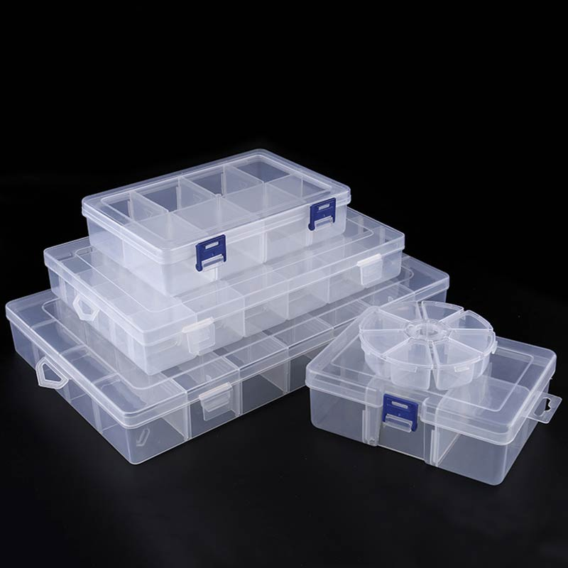 Display Case 6-36 Grids Screw Holder Adjustable Storage Box Jewelry Organizer Compartment Earring Bead Container 1PC Plastic