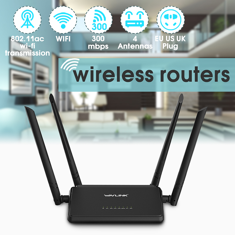 Wavlink WS-WN529R2 Antennas 300Mbps Wireless Router Wifi Repeater With 4x5dBi High Gain Antennas Wider Coverage Easy Setup
