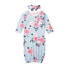 Детский конверт для новорожденного одеяло облегающее платье Цветочные наряды 0-9 м