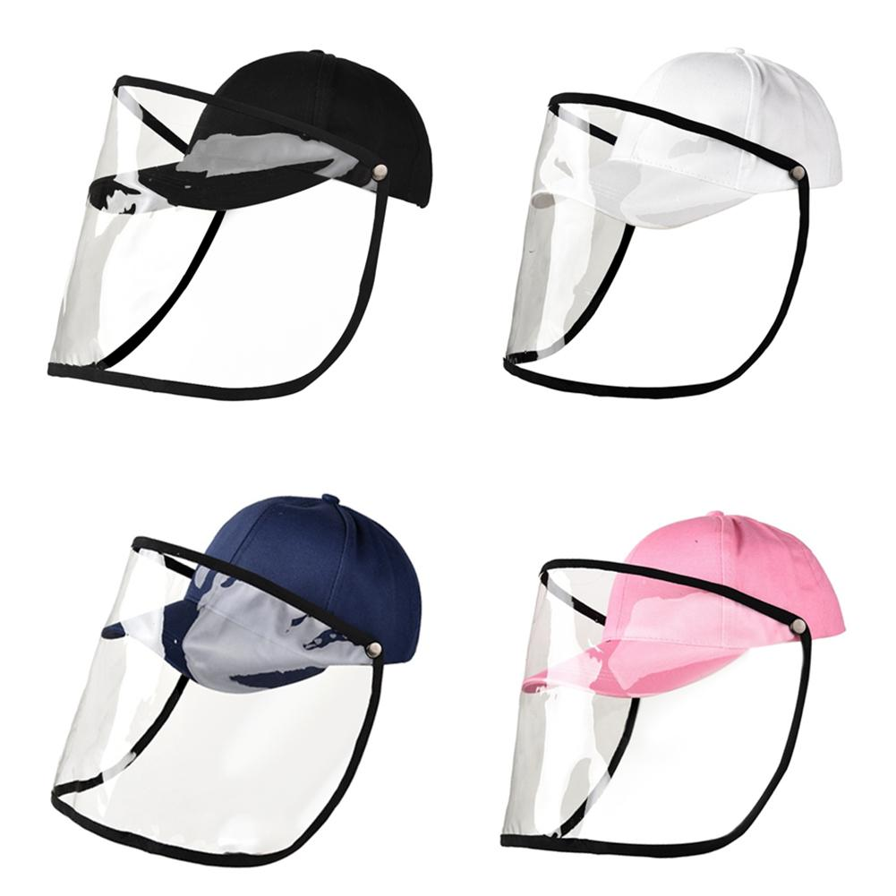 Detachable Dual-use Baseball Cap Full-face Protective Hat Fashion Transparent Protective Full Face Anti-fog Saliva Cap