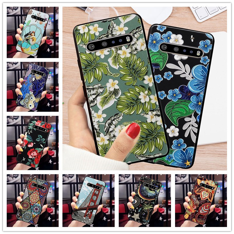 3D Emboss Case For LG G8S Thinq Cover 3D Relief Case For LG G6 G8 S G7 Thinq K61 K40s K50S Q60 V60 Thinq Cover Fashion Coque