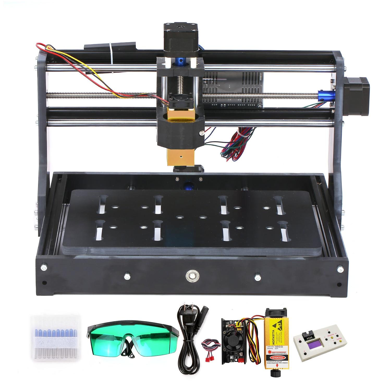 Mini CNC3020 Laser Engraver Wood CNC Router Machine GRBL ER11 Hobby DIY Engraving Machine For Wood PCB PVC