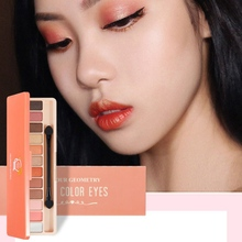 12 Colors Matte Shimmer Eyeshadow Palette Long-Lasting Waterproof Eye Shadow Powder Make Up
